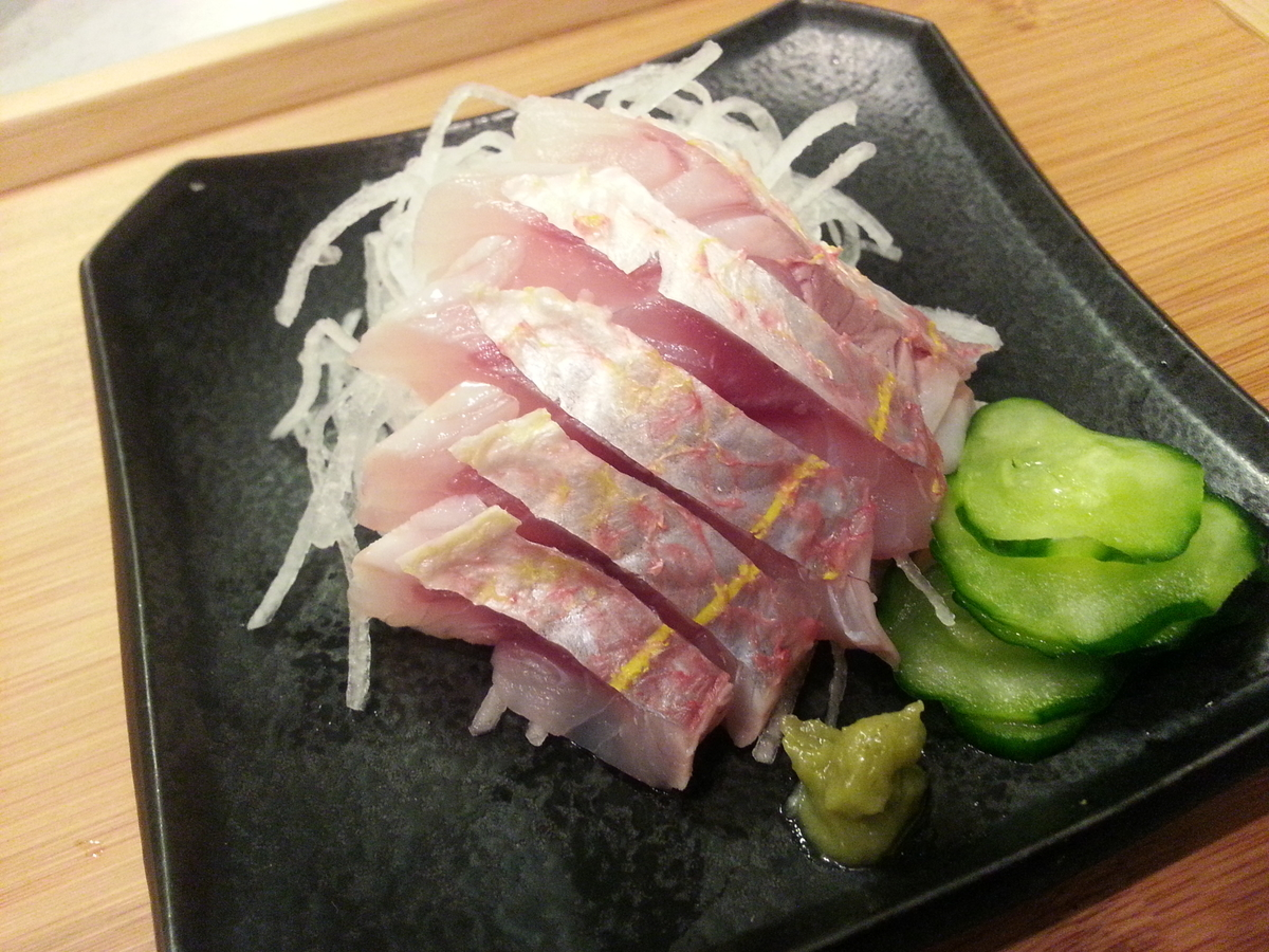 イトヨリダイ 刺身(湯引き/皮霜造り)