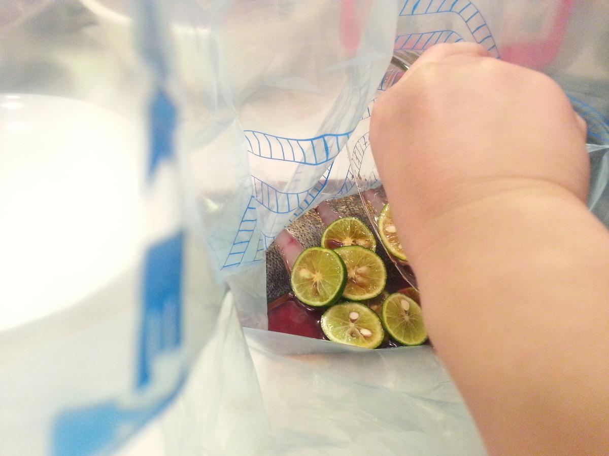 すだちを使う魚の柚庵焼きの作り方