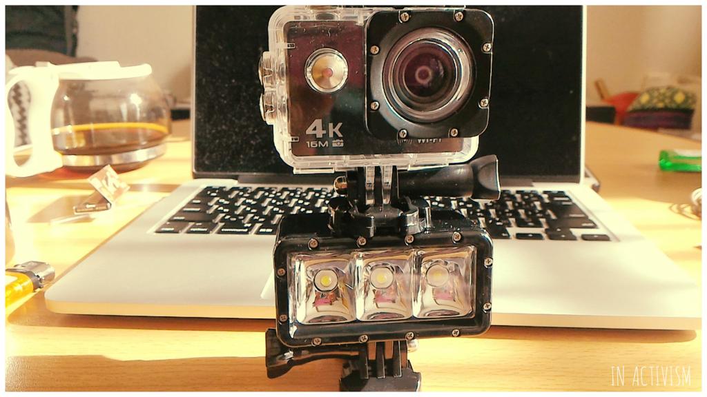 アクションカメラ(4K)とセットでの使用例