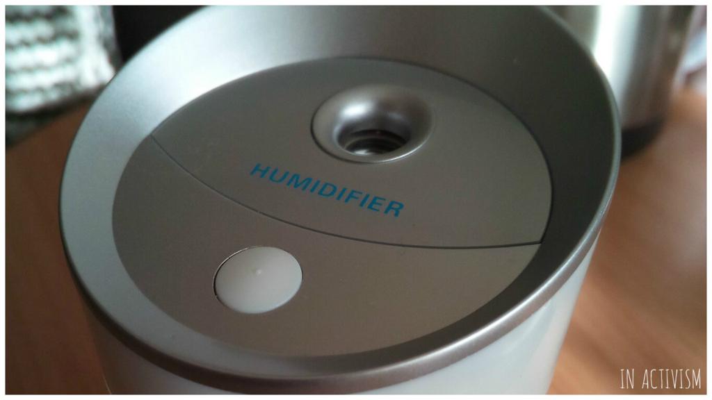 カップホルダーにすっぽり入る加湿器