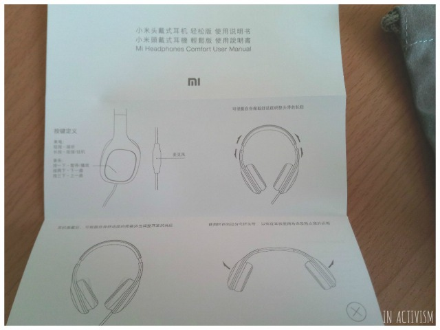 Original Xiaomi Headphones取説