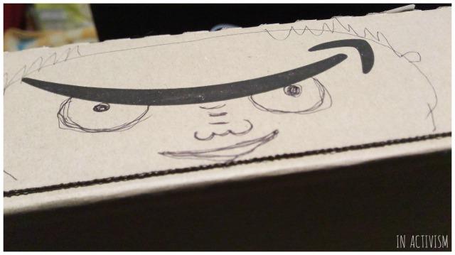 Amazon外箱いたずら書き