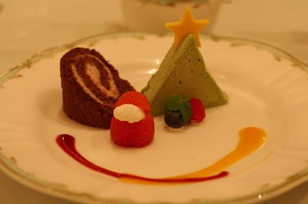 クリスマスコースのデザート
