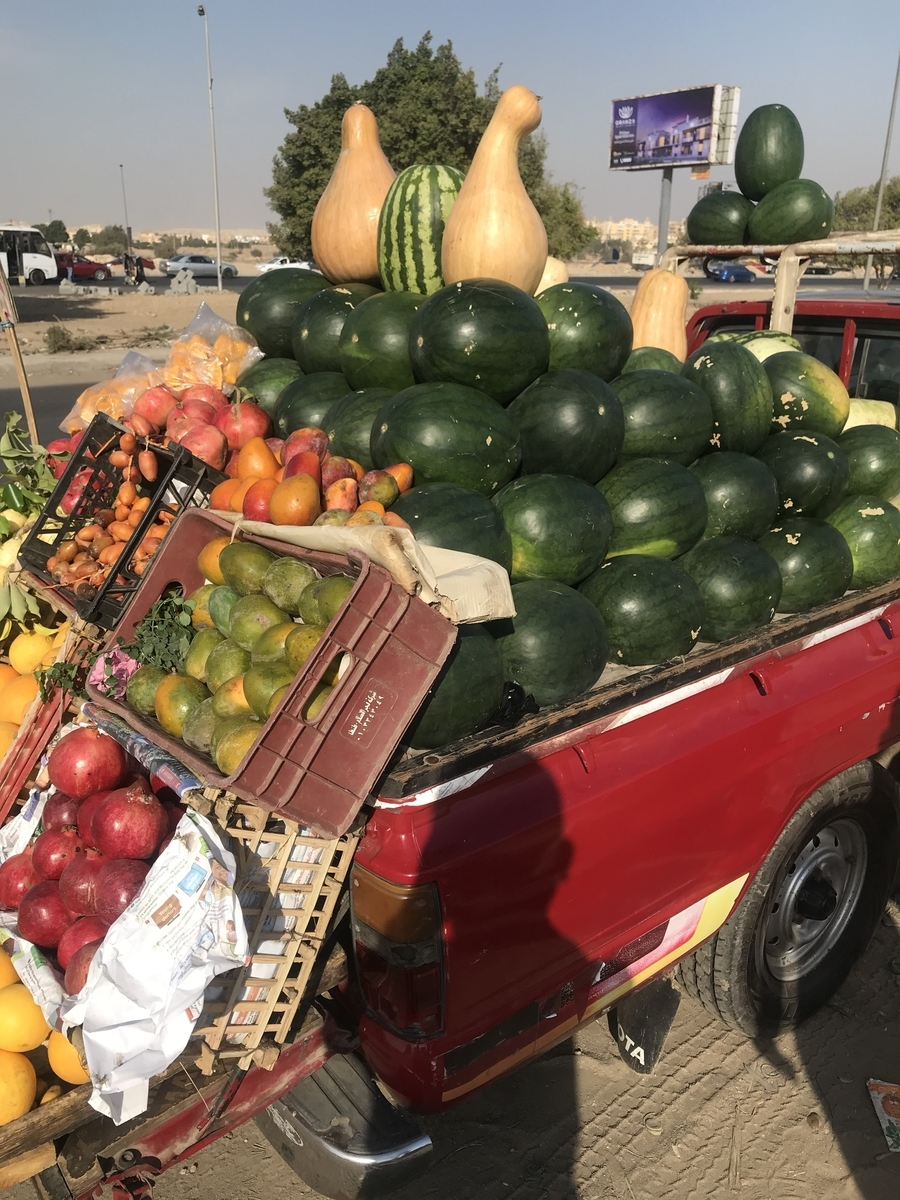 砂漠の国エジプトでは意外にも安く多くのフルーツが食べれる