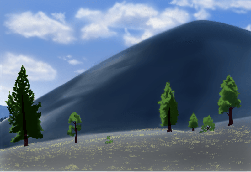 山の描き方