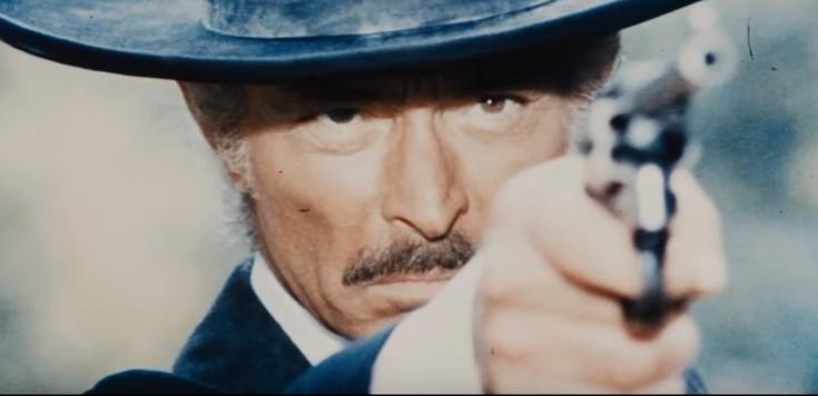 リー・ヴァン・クリーフ演じる元・保安官クレイトンの画像