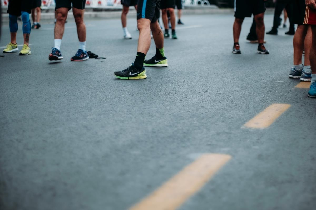 マラソン大会前