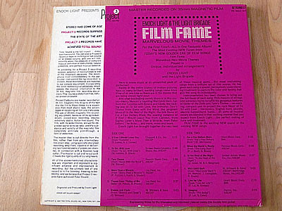 ENOCH LIGHT & THE LIGHT BRIGADE / FILM FAME - MARVELOUS MOVIE THEMES ( LP )