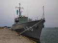 [海上自衛隊][ながしま]寺泊港に停泊中の掃海艇「ながしま」。