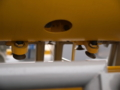[海上自衛隊][ながしま][S-7]機雷処分具下面の爆雷の振れ止め。