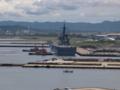 [海上自衛隊][しもきた]柏崎港に入港中の輸送艦「しもきた」。