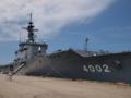 [海上自衛隊][しもきた]柏崎港に停泊中の輸送艦「しもきた」。
