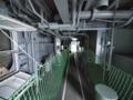[海上自衛隊][しもきた]ウェルドック横の回廊部分。ここを通ってヘリ甲板の後ろに出る順路。