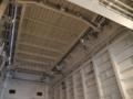 [海上自衛隊][しもきた]前部昇降台の裏面。艦内なので白塗装です。