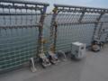 [海上自衛隊][しもきた]露天甲板のハンドレール。