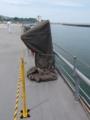 [海上自衛隊][しもきた][12.7mm機銃]左舷側の銃座もカバーがされていました。