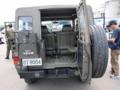 [陸上自衛隊][73式小型トラック]73式小型トラックの後面。