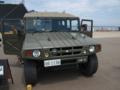[陸上自衛隊][高機動車]岸壁で展示されていた、陸上自衛隊の高機動車。