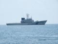 [海上保安庁][やひこ]柏崎港沖を哨戒中の巡視船「やひこ」。