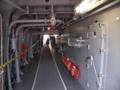 [海上自衛隊][ちょうかい]「ちょうかい」艦橋左舷側の連絡通路。