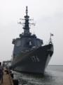 [海上自衛隊][ちょうかい]酒田港に停泊中の護衛艦「ちょうかい」。