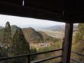 [史跡][左下観音]三階回廊から会津盆地を望む。見晴らしは素晴らしいです。