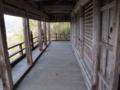 [史跡][左下観音]三階の回廊。見晴らしは素晴らしいです。
