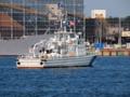 [海上保安庁][なつぎり]新潟東港港内をパトロールする巡視艇「なつぎり」。
