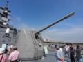 [海上自衛隊][まきなみ][OTO 127mm砲]「まきなみ」のOTOメララ127mm砲。