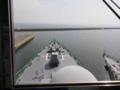 [海上自衛隊][あたご]護衛艦「あたご」の艦橋より前甲板を望む。