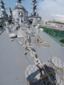 [海上自衛隊][あたご]「あたご」艦首の錨甲板。
