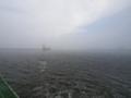 [風景]八戸港に霧が出てきました。涼しい…。