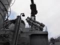 [海上自衛隊][せとぎり][ハープーン]護衛艦「せとぎり」の対艦ミサイルランチャー。