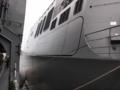 [海上自衛隊][あたご]護衛艦「あたご」格納庫脇の舷梯収納部。