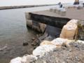 [風景]津波で大きくえぐられた八戸港の岸壁。