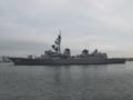 [海上自衛隊][まきなみ]八戸港を出港する護衛艦「まきなみ」。