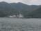 舞鶴湾の湾口通過中の護衛艦「あたご」。