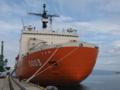 [海上自衛隊][しらせ II]伏木富山港万葉岸壁に着岸中の砕氷艦「しらせ」。
