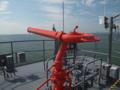 [海上自衛隊][げんかい]多用途支援艦「げんかい」艦橋トップの放水銃。