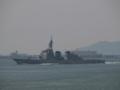 [海上自衛隊][きりしま]大阪湾を展示海域に向かう、ミサイル護衛艦「きりしま」。