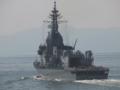 [海上自衛隊][あすか]大阪湾を展示海域に向かう試験艦「あすか」。