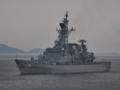 [海上自衛隊][はたかぜ]祝砲発射展示中の護衛艦「はたかぜ」。大阪湾にて。