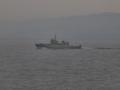 [海上自衛隊][YDT-04]水中処分母船「YDT-04」。大阪湾にて。