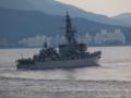 [海上自衛隊][とね]護衛艦「とね」。大阪湾にて。