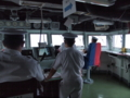[海上自衛隊][げんかい]多用途支援艦「げんかい」の艦橋。大阪湾にて。