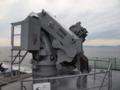 [海上自衛隊][げんかい]多用途支援艦「げんかい」のデッキクレーン。大阪湾にて。