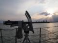 [海上自衛隊][げんかい][12.7mm機銃]「げんかい」左舷の12.7mm機銃。大阪湾にて。