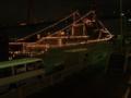[海上自衛隊][せとゆき][とね][電灯艦飾]天保山埠頭で電灯艦飾中の護衛艦「せとゆき」と「とね」。