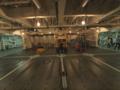 [海上自衛隊][とわだ]補給艦「とわだ」、艦内のフォークリフト。