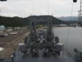 [海上自衛隊][とわだ]補給艦「とわだ」、艦橋より前甲板を望む。